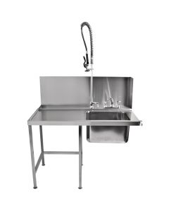 Classeq Pass-Through Table with Spray Mixer Left
