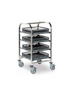 Glasswasher Basket Trolley Low Level (3 Baskets)