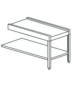 Outlet Table With Undershelf 120cm